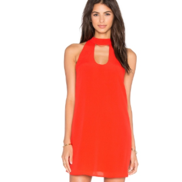 Lovers + Friends Dresses & Skirts - Lovers + Friends red halter minidress size small